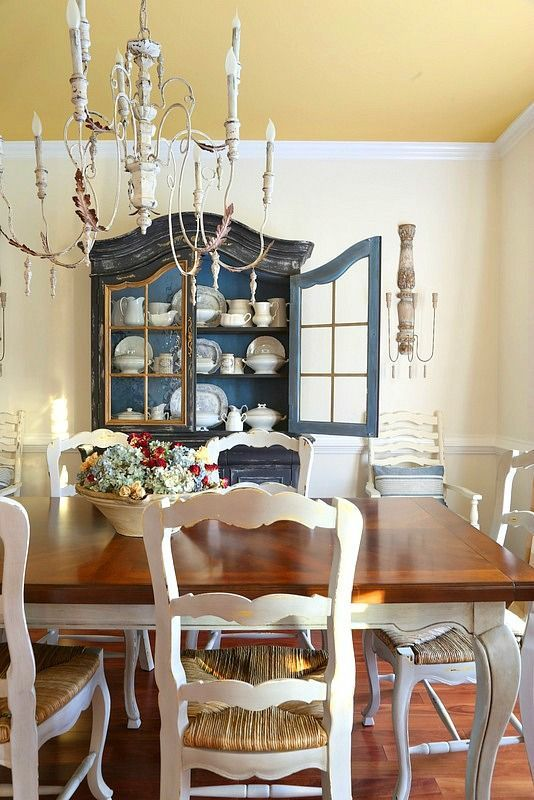 Savvy Southern Style: French Country Style Dining Room That Is Casual And  Filled With A Mix Of Vintage And New Plus DIY