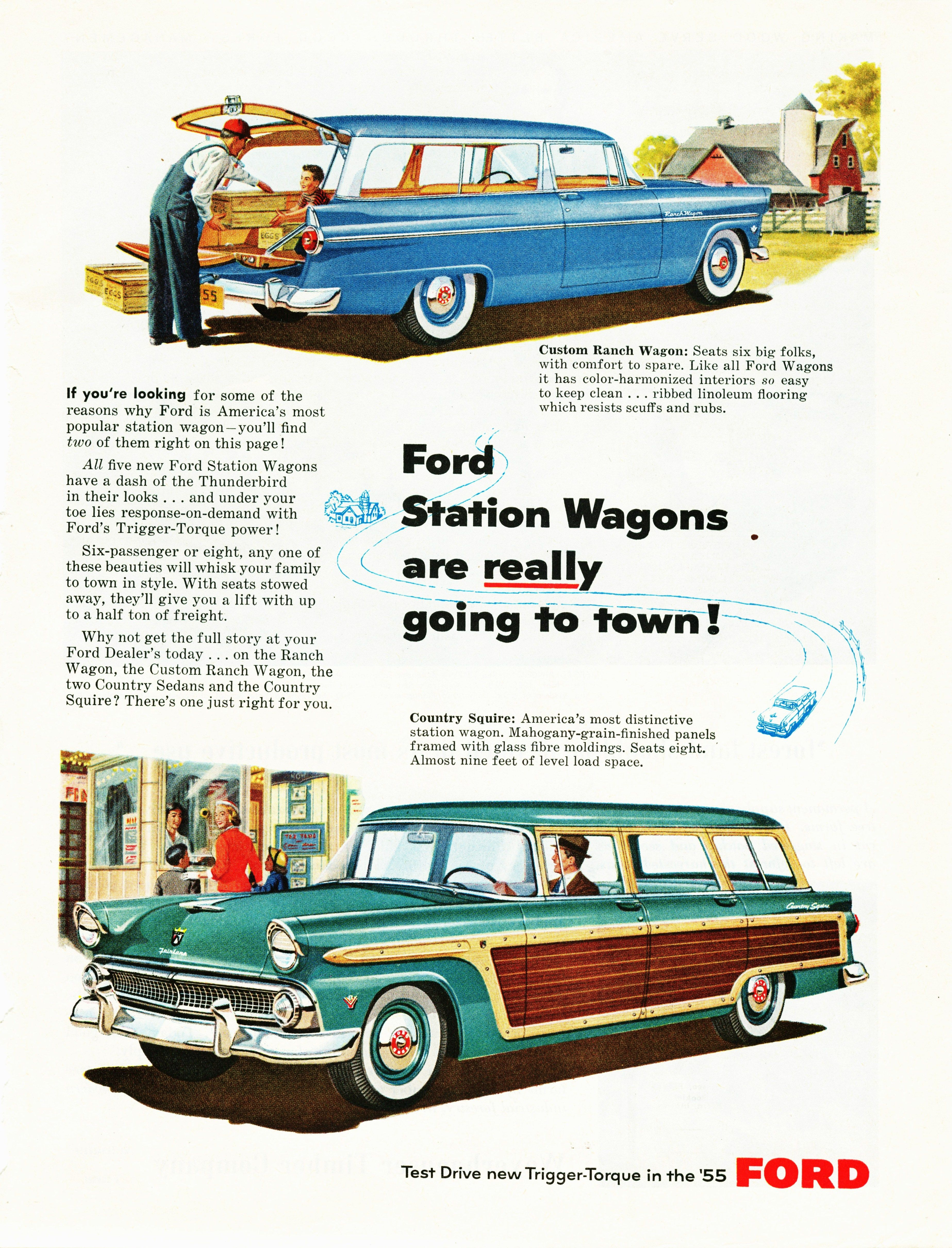 Ford Station Wagon Ad JpM ENTERTAINMENT - All ford vehicles