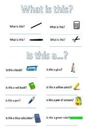 English worksheet: What is this? | kids | Worksheets ...
