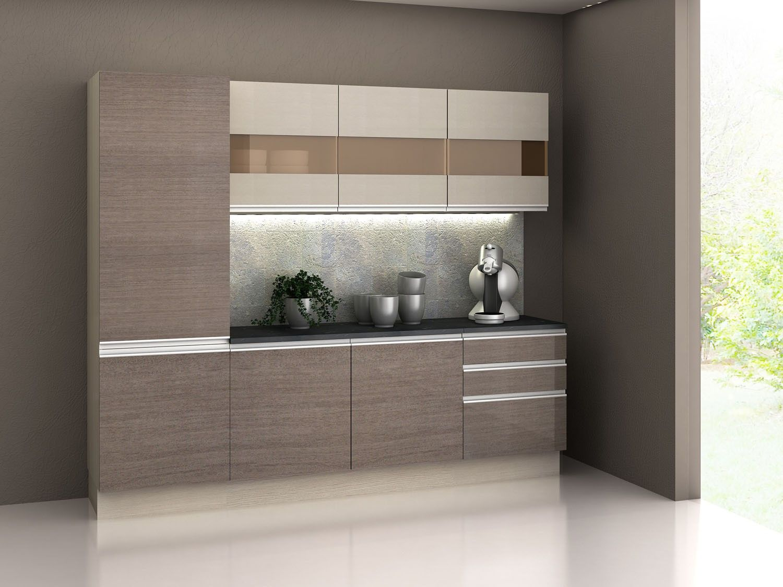 Cozinha Compacta Madesa Glamy Com Balc O 7 Portas 3 Gavetas