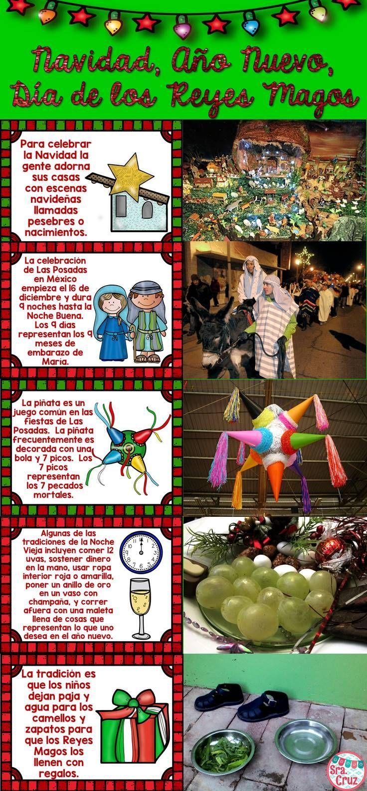 Navidad Año Nuevo Reyes Magos Powerpoint And Mini Book Spanish Christmas How To Speak Spanish Teaching Spanish