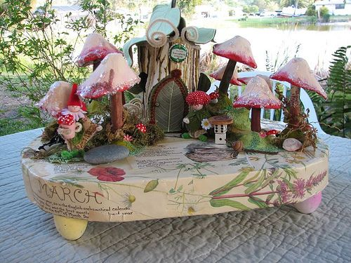 Gnome Garden: Springtime Centerpiece With Gnome Cottage And Chenille