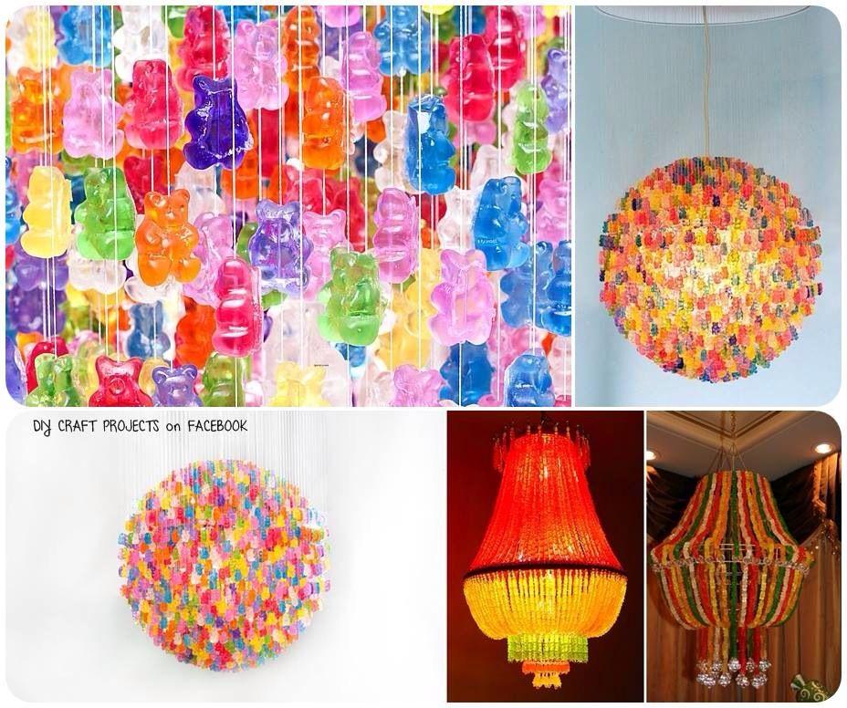 Diy gummy bear chandelier food pinterest bears crafty and diys diy gummy bear chandelier aloadofball Images