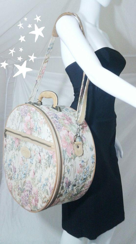 9872d68d9af Vintage Protocol Round Carry On Travel Case Shoulder Bag Hat Box Design    Travel, Luggage   eBay!