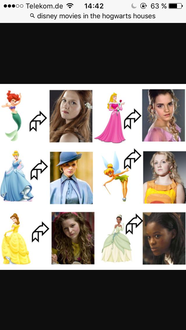 Disney Princesses And Hogwarts Girls Disney Princess Harry Potter Potterhead