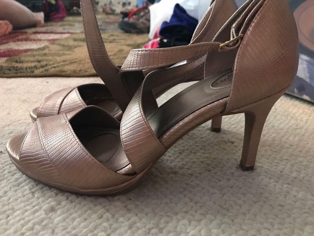 4dfb8d44dac Gold High Heel Shoes Size 10 - Memory Foam Padding  fashion  clothing  shoes