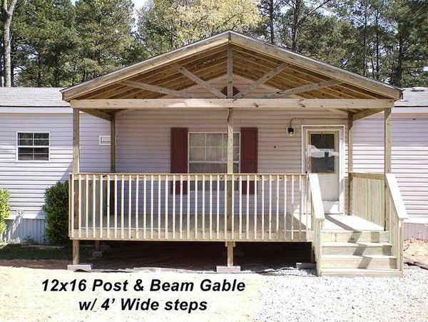 Porch Designs For Mobile Homes | Decks, Front Deck And Design