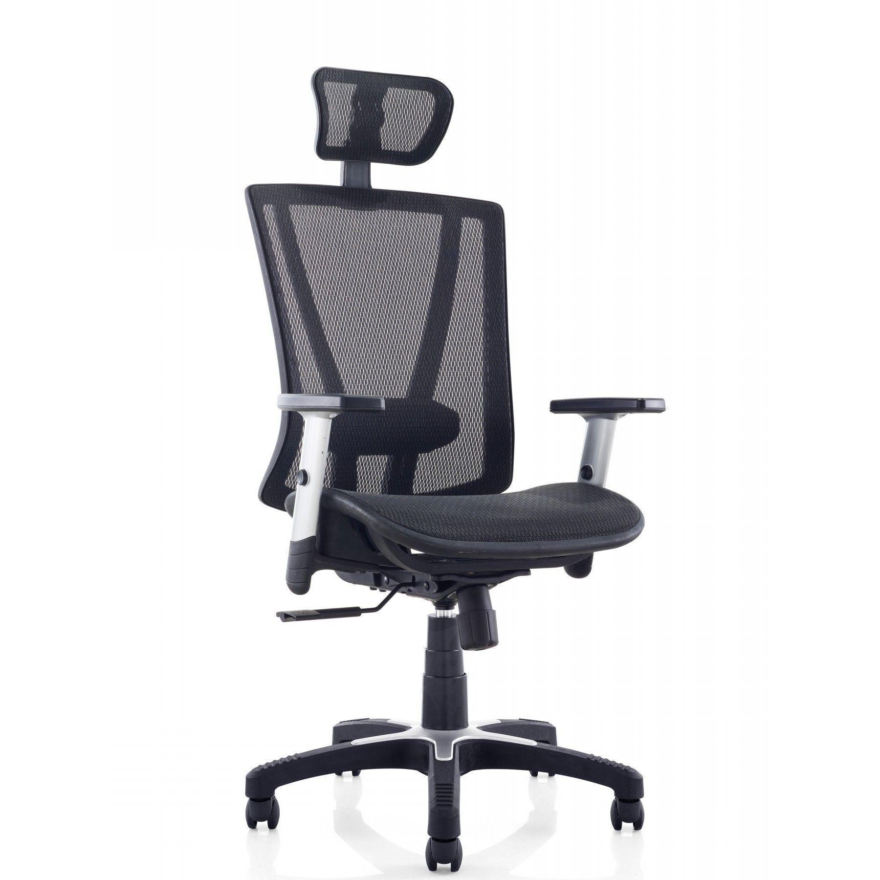 Ergomax Office Fully Meshed Ergonomic Height Adjustable Black