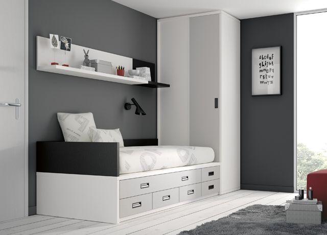 kids touch habitacin juvenil juvenil camas compactas y nidos cama compacta con cajones con