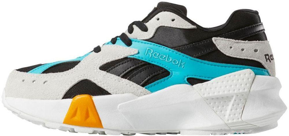 Reebok Classic Sneaker 'Aztrek Double X Gigi Hadid' in hellblau / goldgelb / hellgrau / schwarz