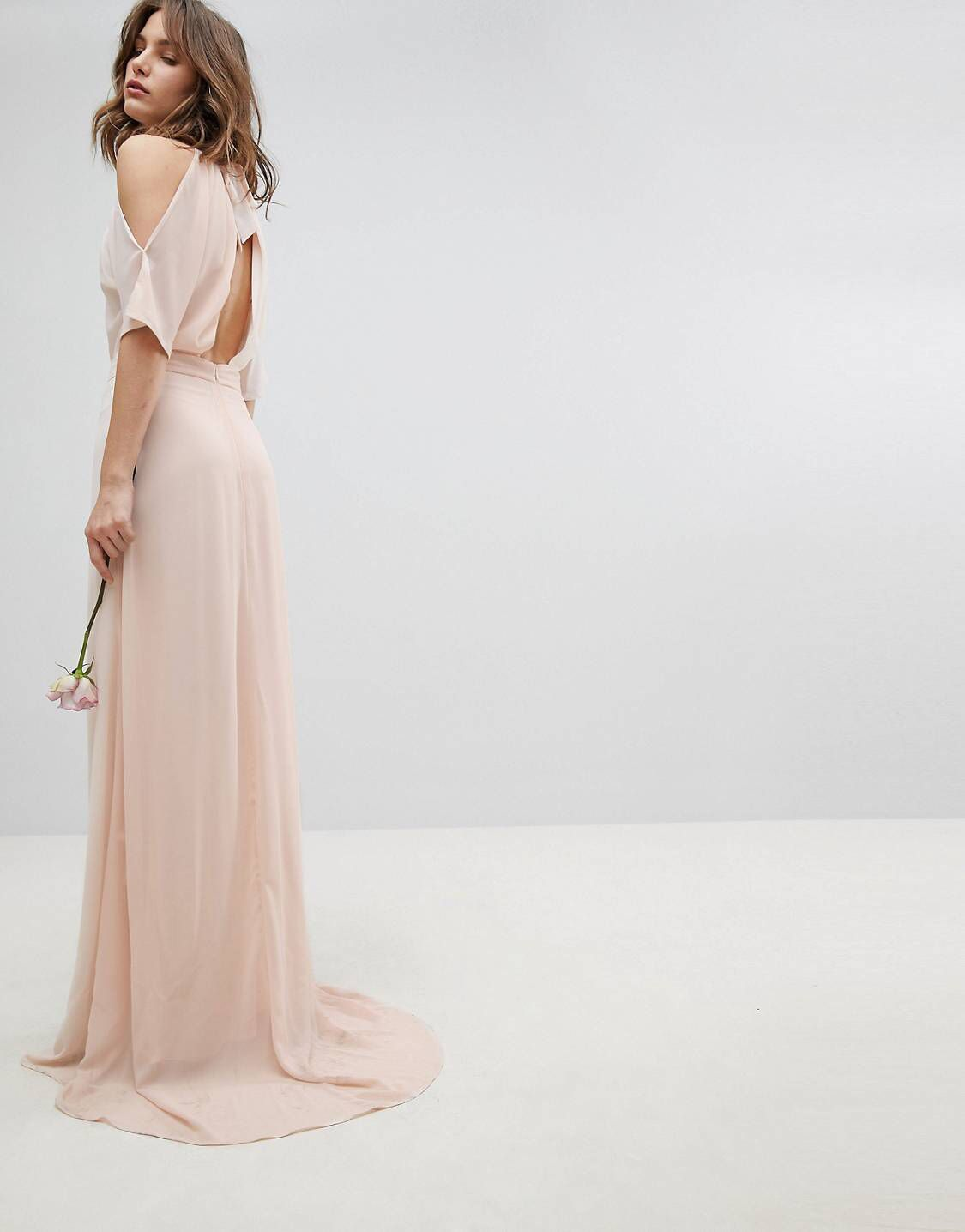 a226313254bfd High Neck Maxi Bridesmaid Dress With Fishtail – DACC