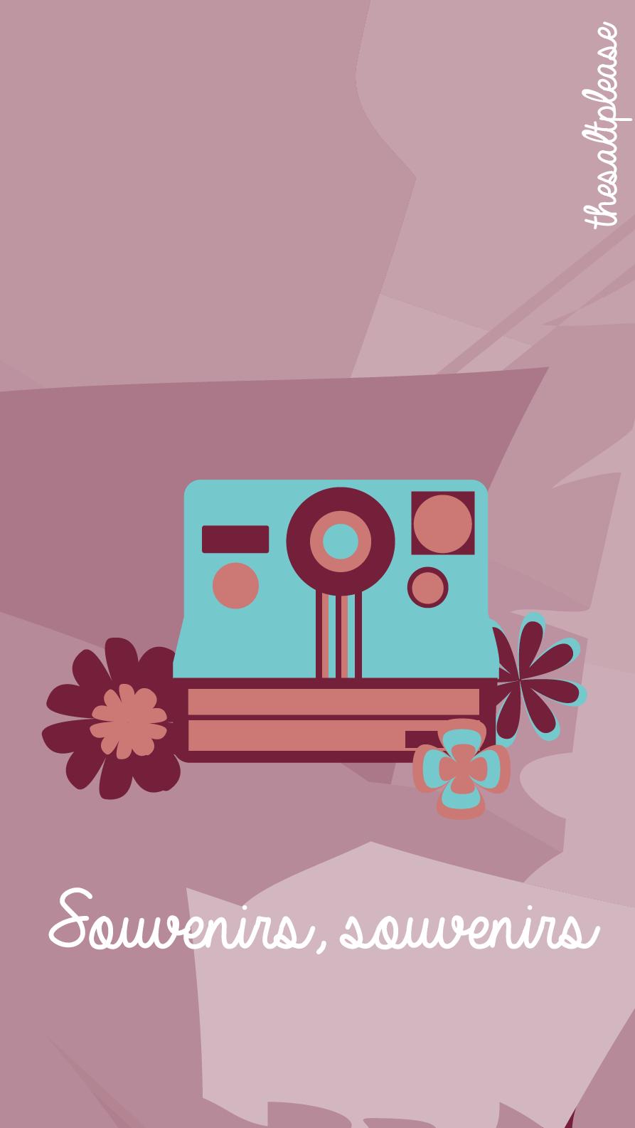 Hipster Flowers Camera IPhone Lock Wallpaper PanPins