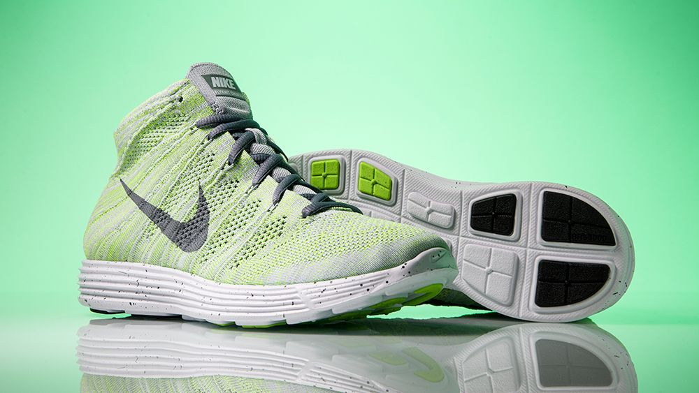 2dc647631fb1 Nike Lunar Flyknit Chukka Color  Wolf Grey Cool Grey-Electric Green-White  Style Code  554969-011