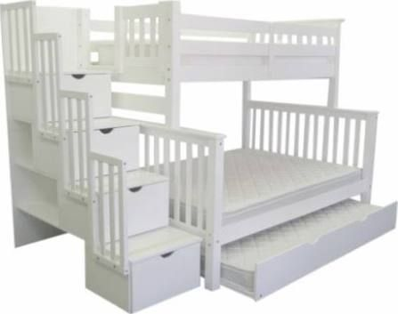 twin over queen bunk bed with trundle | Guest room | Pinterest ...