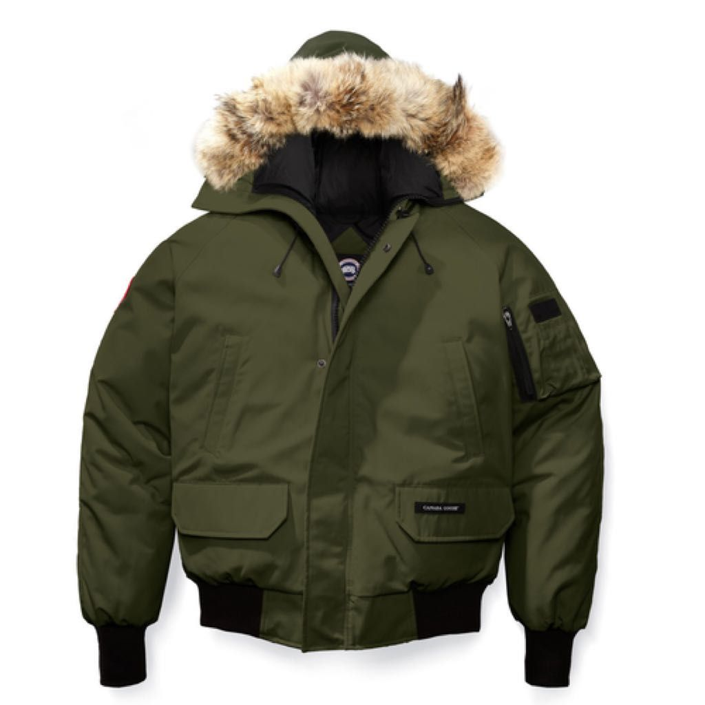 Olive Green Canada Goose Bomber Jacket (small) | @giftryapp