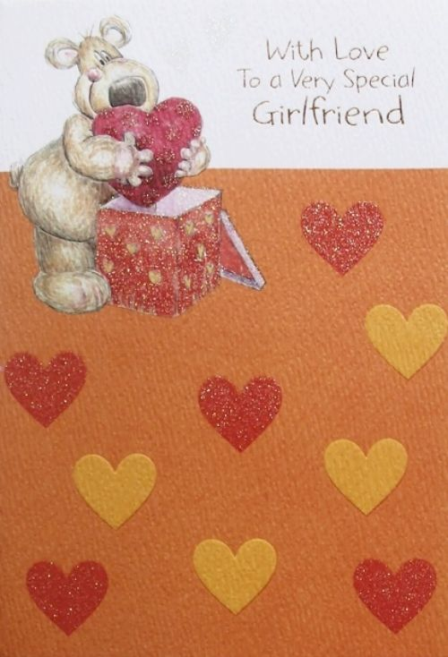 With love to a very special girlfriend birthday greeting card with love to a very special girlfriend birthday greeting card hearts theme new m4hsunfo