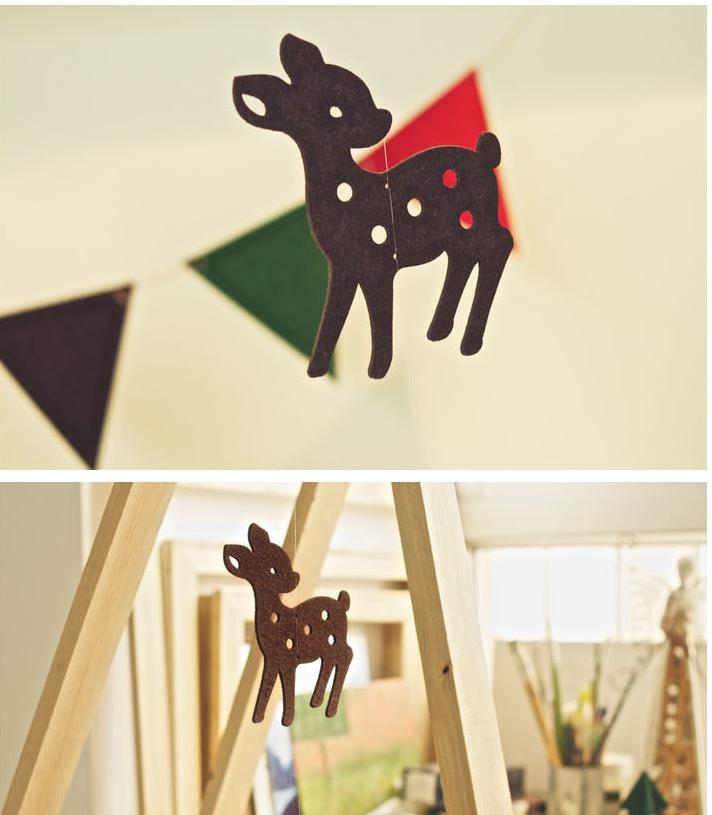 Decoración de Navidad Little Bambi. #Farodeluna #navidad
