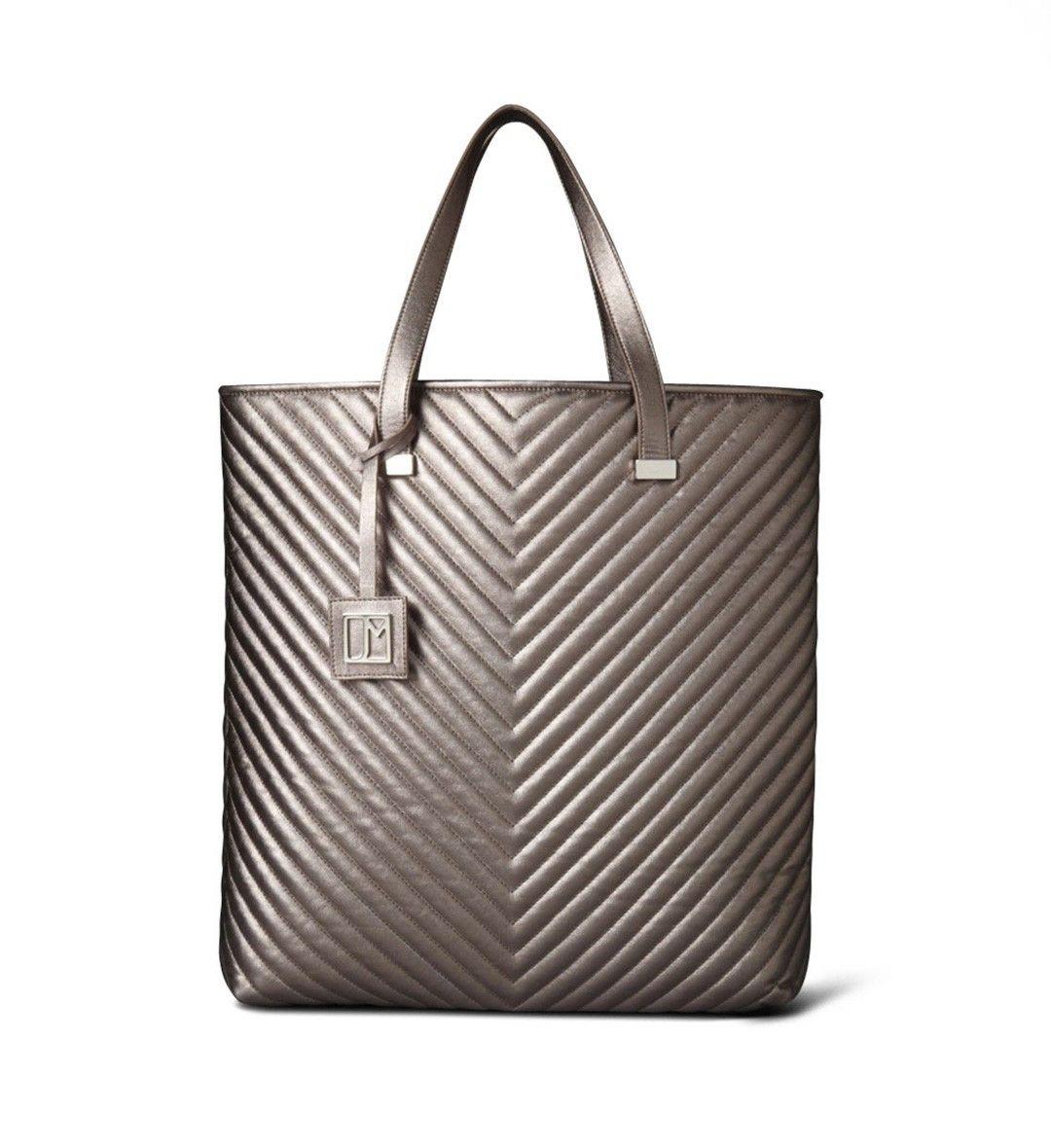 Jill Milan - Vegan Fashion | Made In Italy | Newport Quilted Tote Bronze Metallic 02712BRZ0