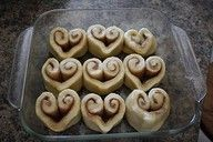 Doing this for Valentine's morning!  Cute and simple canned cinnamon rolls.