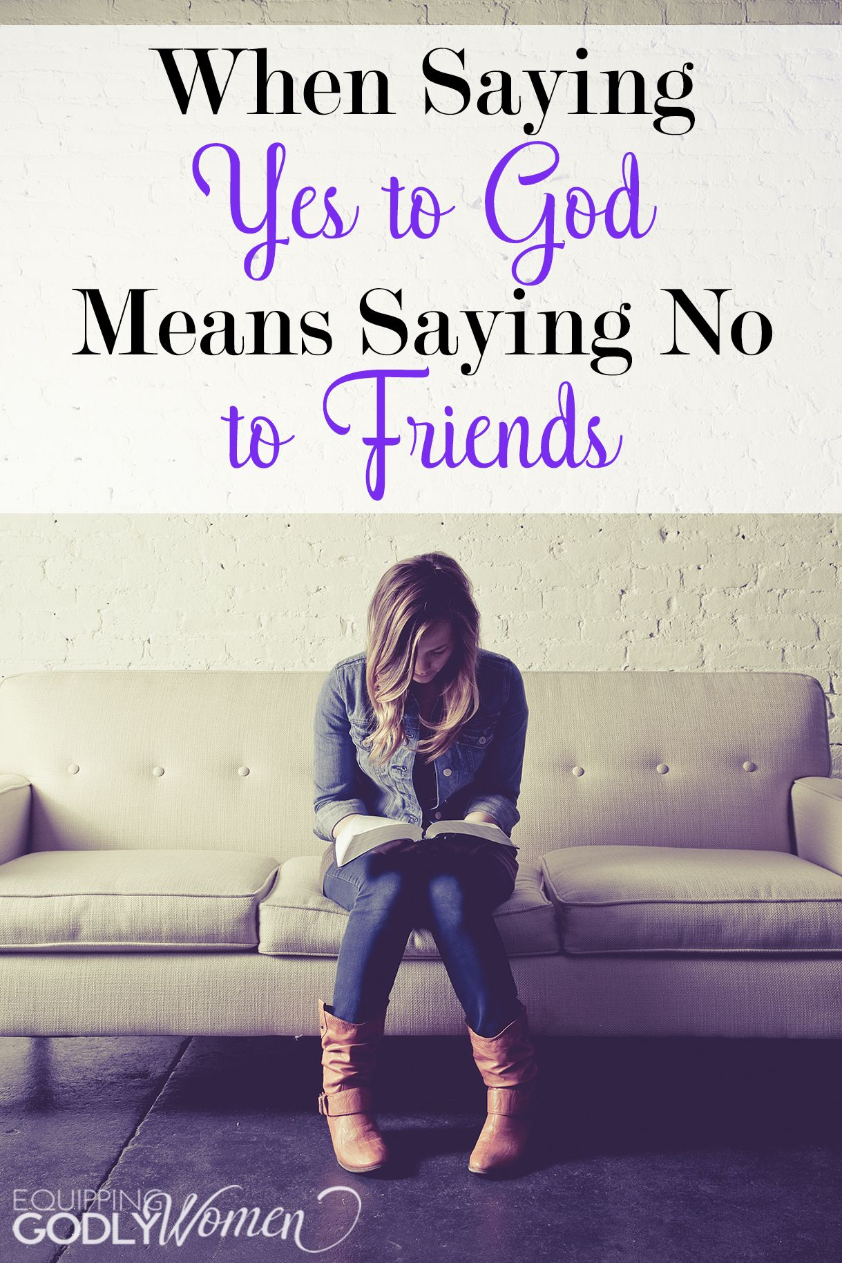 When Saying Yes to God Means Saying No to Friends