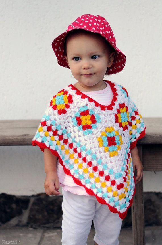 Baby girl crochet poncho Infant crochet cape Toddler crochet poncho ...