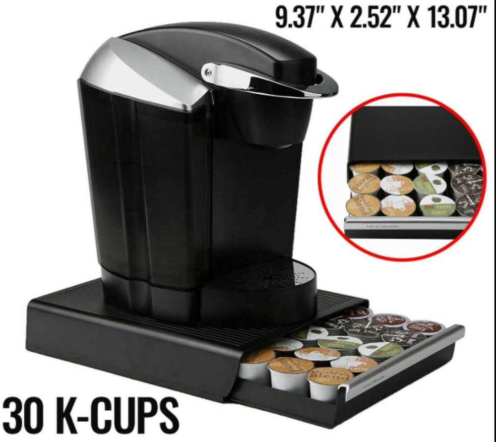 Coffee Pod Machine Drawer Tassimo 60 Capsule Holder Dispenser Stand Storage Rack