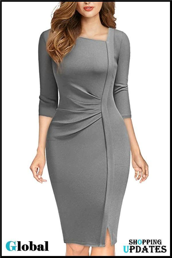 Women's Business Wrap Bodycon Dresses