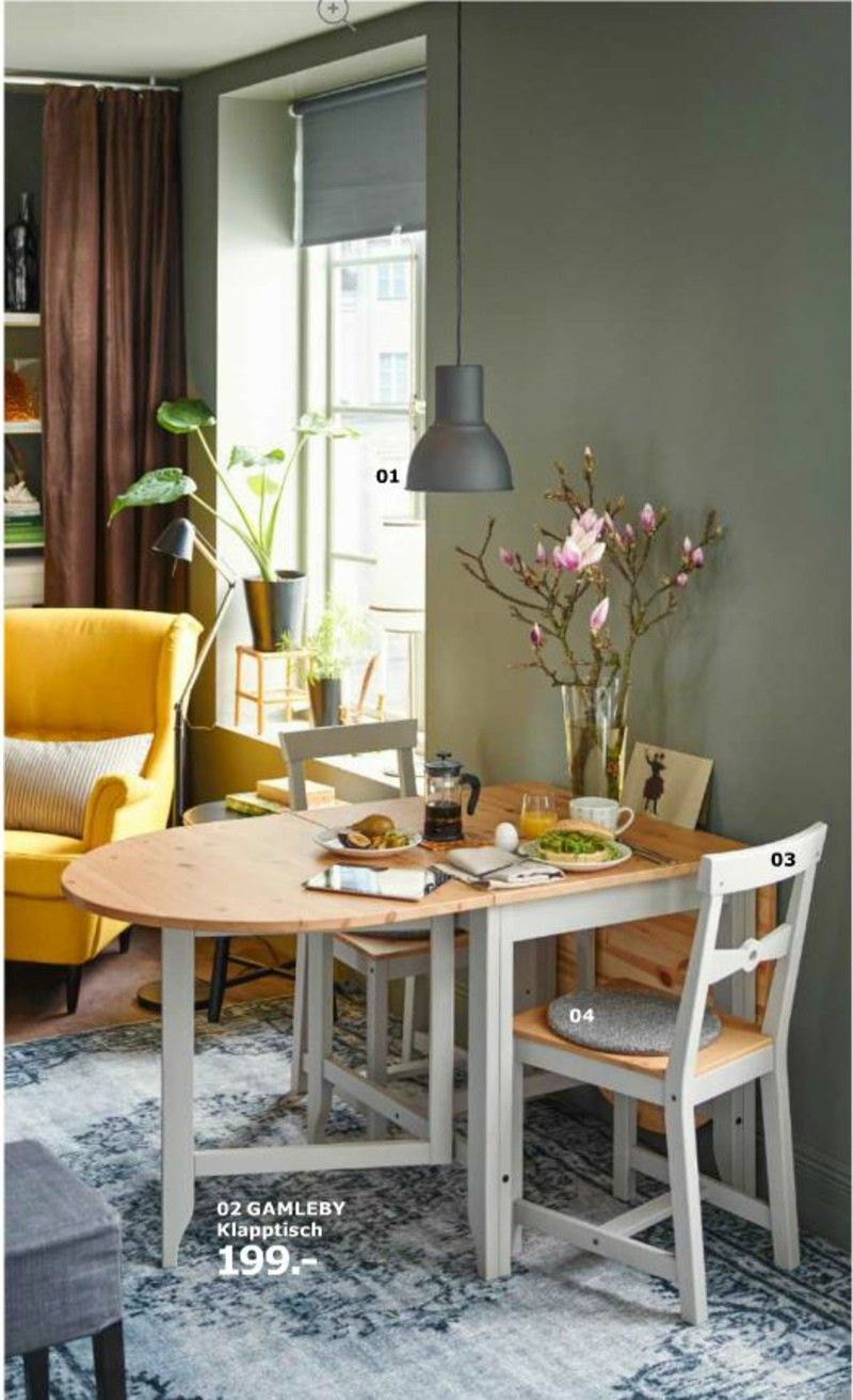 Ikea Foldable Space Saving Dining Table Dining Room Small