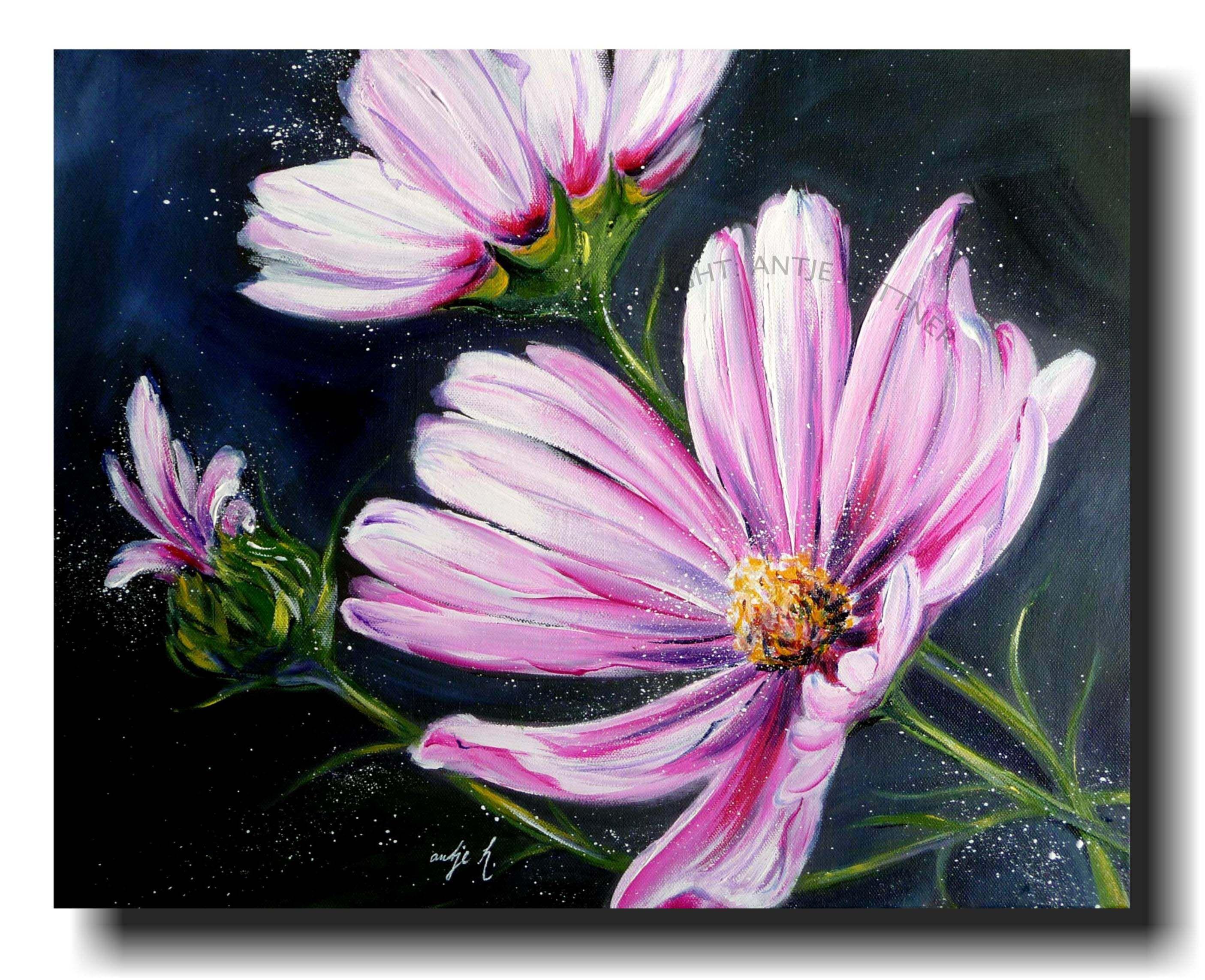 Mohn Xl Original Unikat Gemalde Blumen Poppies Von Kclart Auf