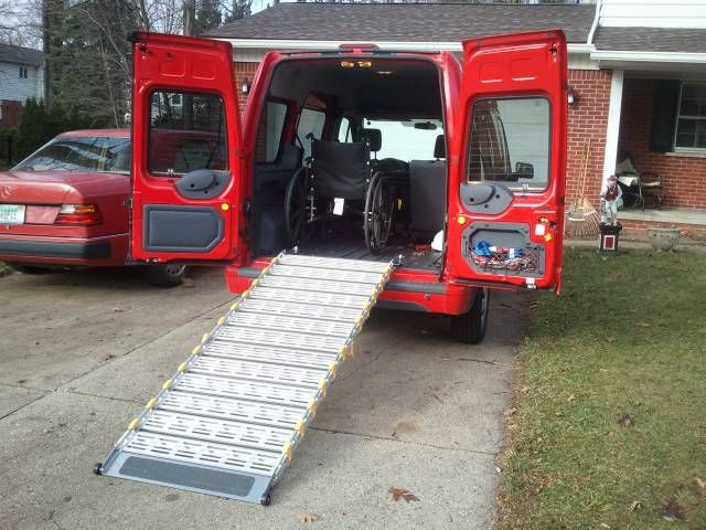 Ramp Installed In A Ford Transit Connect These Ramps Are Made