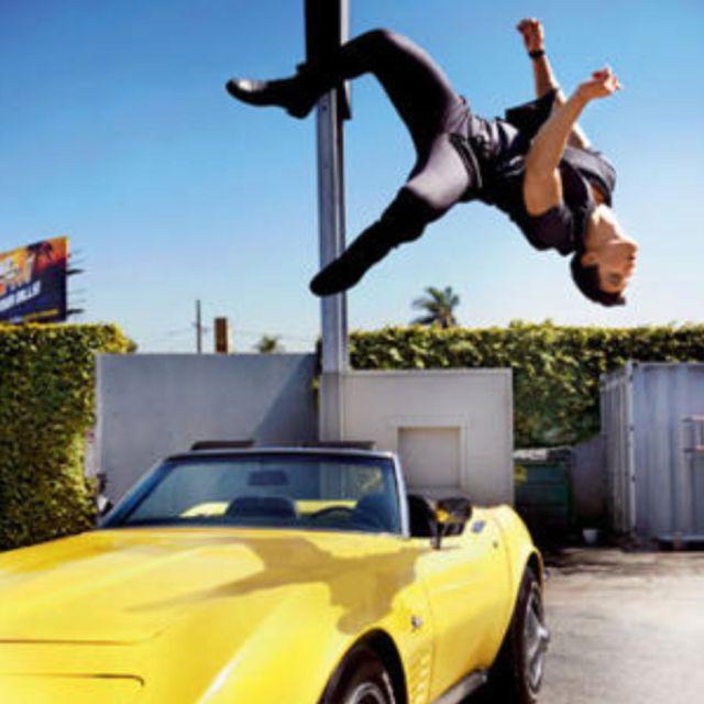 Taylor Laurner GQ mag back flip aka Shark Boy