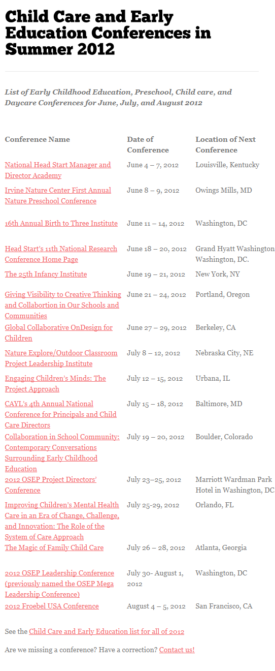 Check For 2013 Dates Early Learning Ventures Focused In Creating Strong Foundation For Future Early Education Education Conferences Education And Development