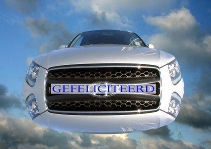 gefeliciteerd met auto