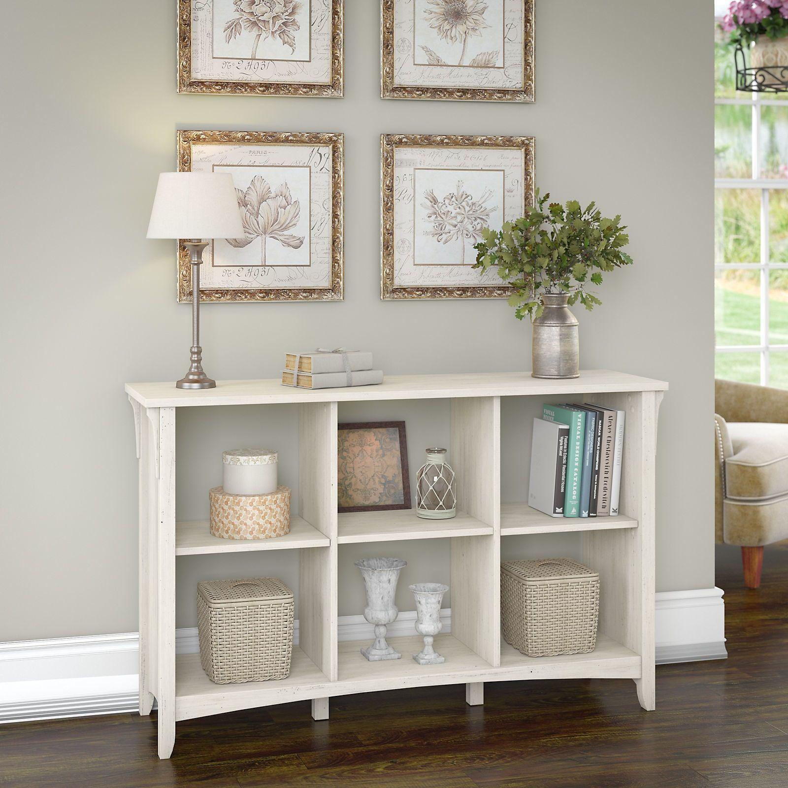 Superb Bush Furniture Salinas 6 Cube Organizer In Antique White (6 Cube Storage)