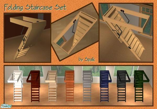 Spaik S Folding Staircase Set Sims Sims 4 Pets Sims 4