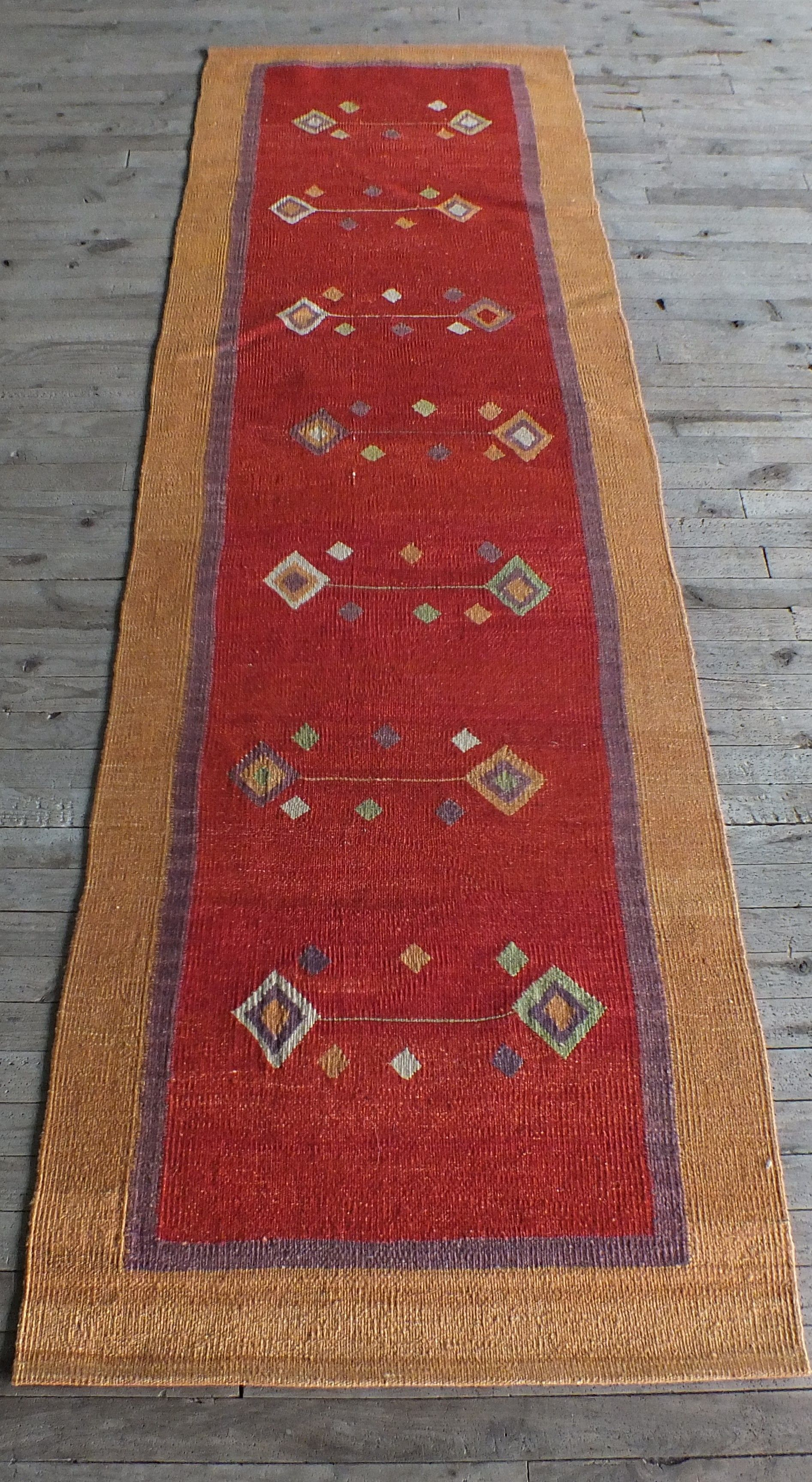 Kilim Rug Vintage Long Runner Turkish