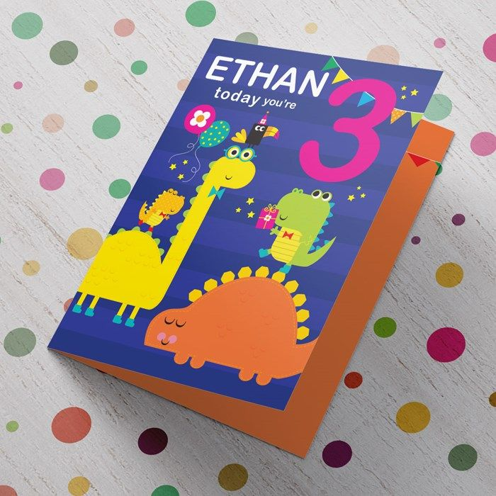 Personalised With His Name And Your Message Inside This Cute Card Will Make Him Smile On His Birthday From 99p Buy Now Thiệp Mi