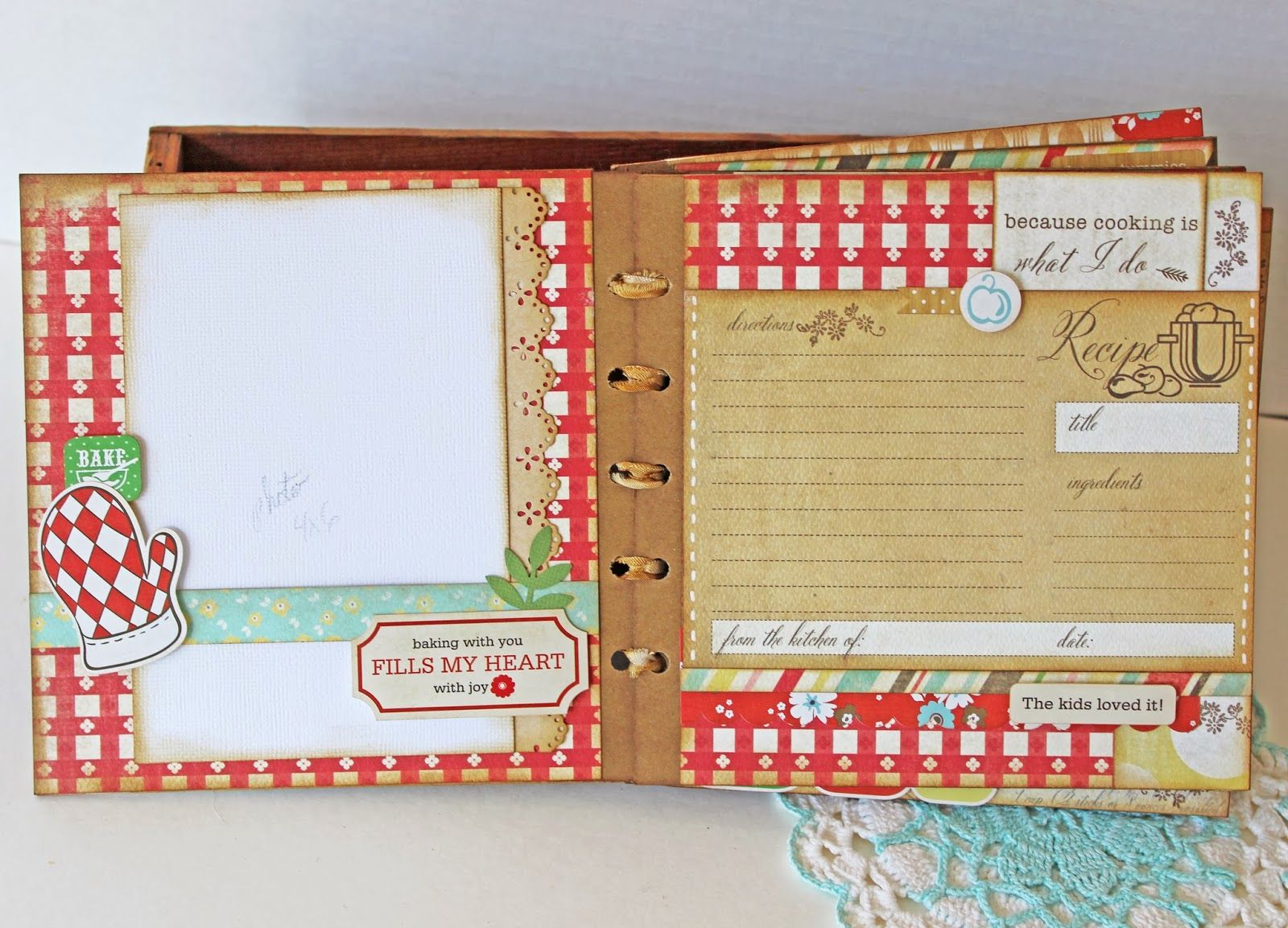How to scrapbook recipes ideas - This Past Weekend I Taught A Mini Album Class At Scrapbook Generation It Was So Much Fun I Loved Creating This Mi