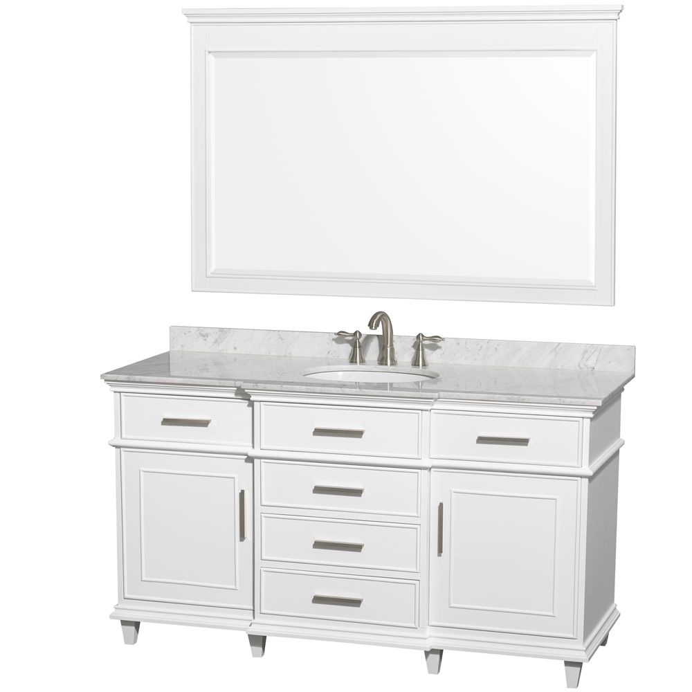 $1749 w/ Carrara top Berkeley $2298 from Lowes 60 inch White Finish ...