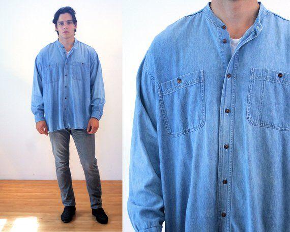460f4748cfc 90s Denim Shirt M