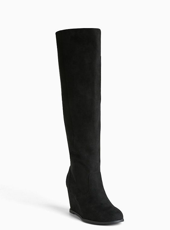 1125c53a528d Lace Up Back Wedge Knee-High Boots (Wide Width   Wide Calf)