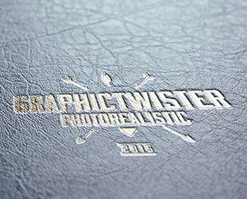 Download Www Graphictwister Com Gold Leather Stamping Logo Mockup Logo Mockup Mockup Photo Gold