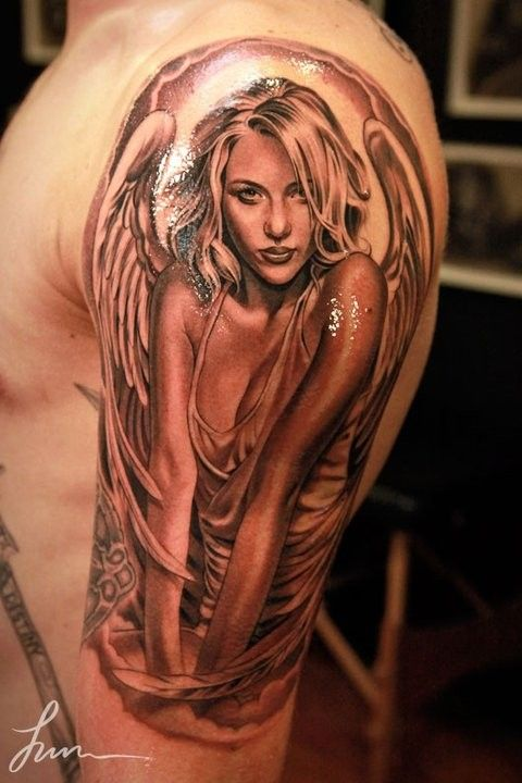 Sexy angel tattoos designs for women
