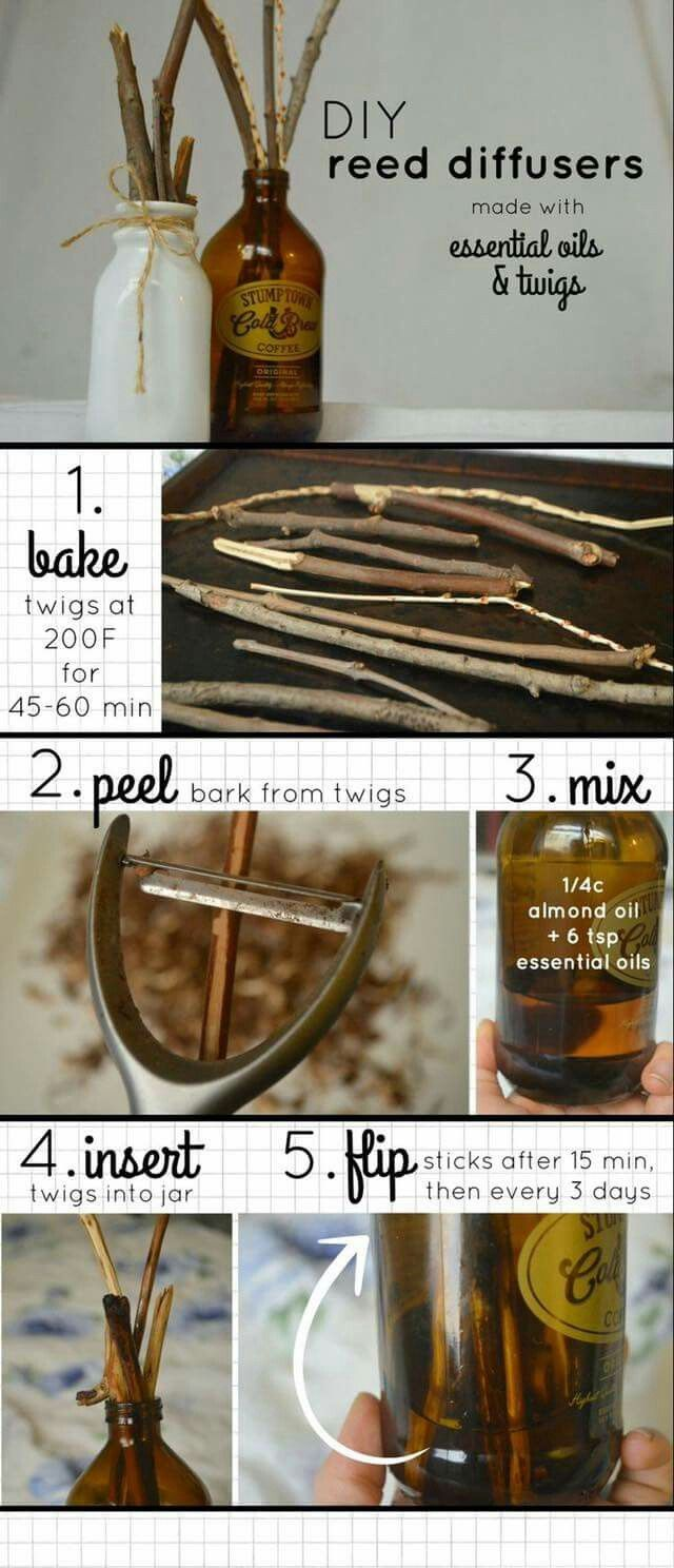 Diy diffusers with salvaged twigs
