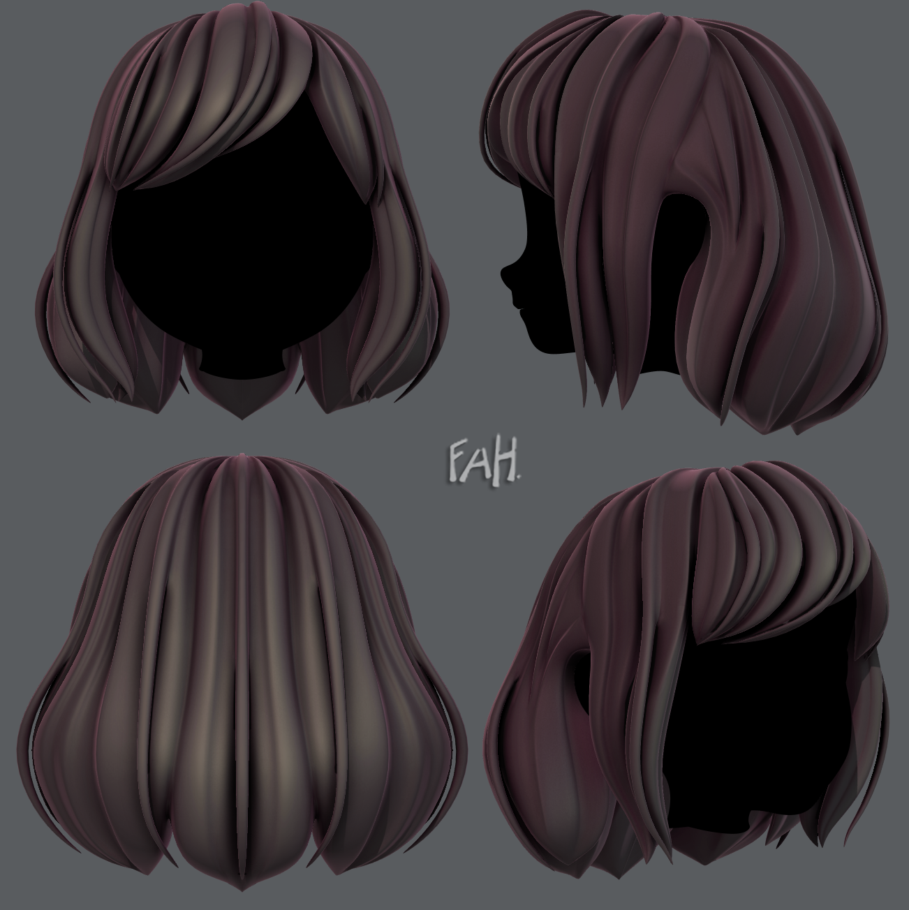 3d Hair Style For Girl V57 3d Model How To Draw Hair Hair Reference Hair Sketch