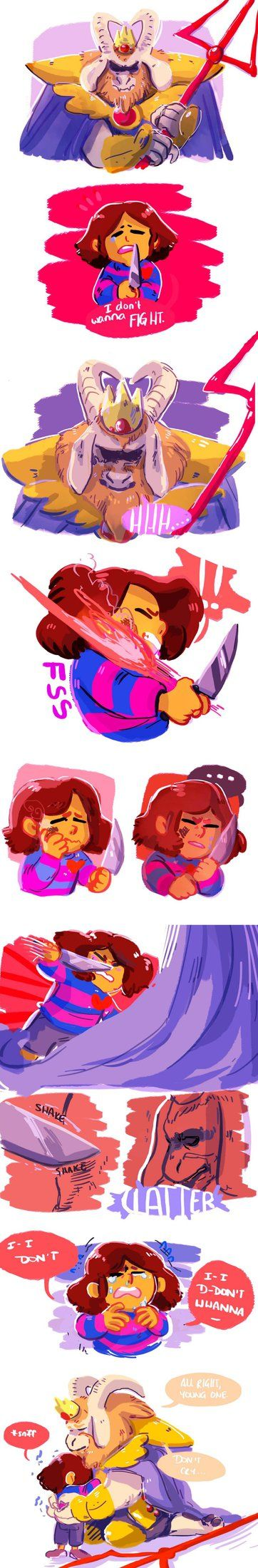 Frisk and Asgore - comic (No, no, no feels, don't do this to