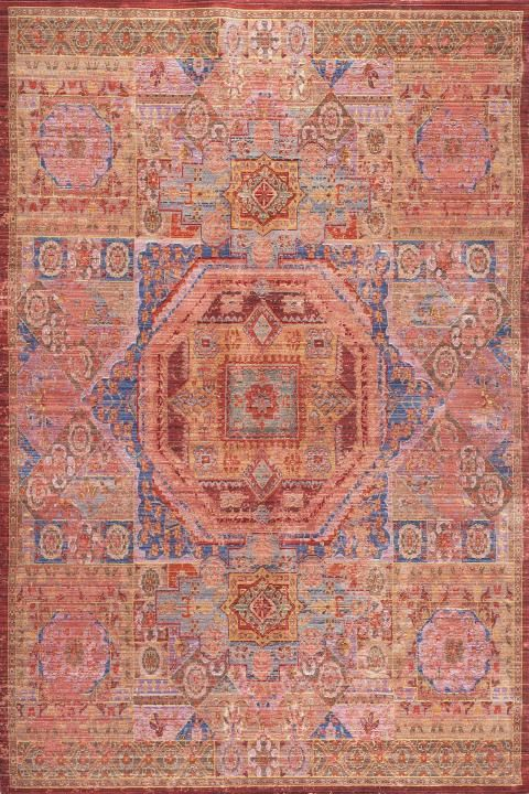 Aqua & Red Watercolor Rug | Foyers, Orange rugs and Pillows