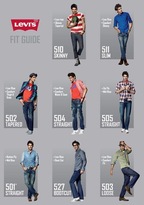 548a19730 levis jeans styles - Google Search   Moda y tendencias hombre ...