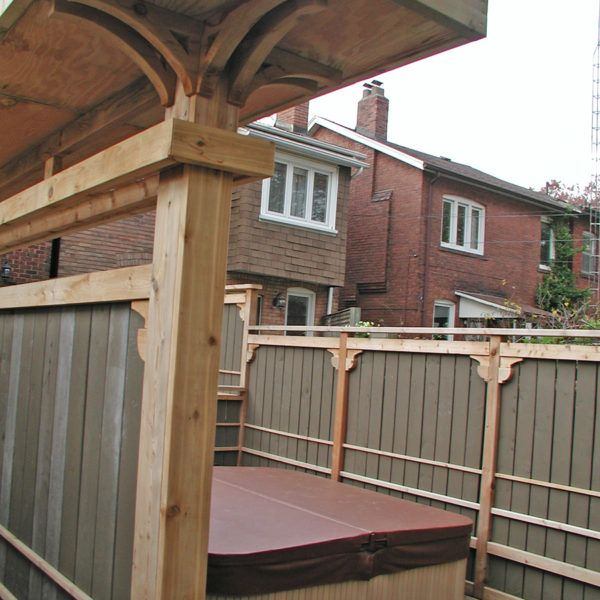 A Chinese Styled Deck In Etobicoke