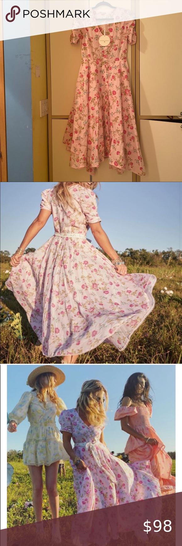 Loveshackfancy Target Audrey Handkerchief Hem Dres Favorite Dress Pink Fashion Loveshackfancy [ 1740 x 580 Pixel ]